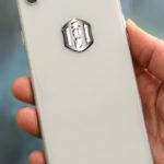 3D EMF zaštitni stiker Perun protector-sivi